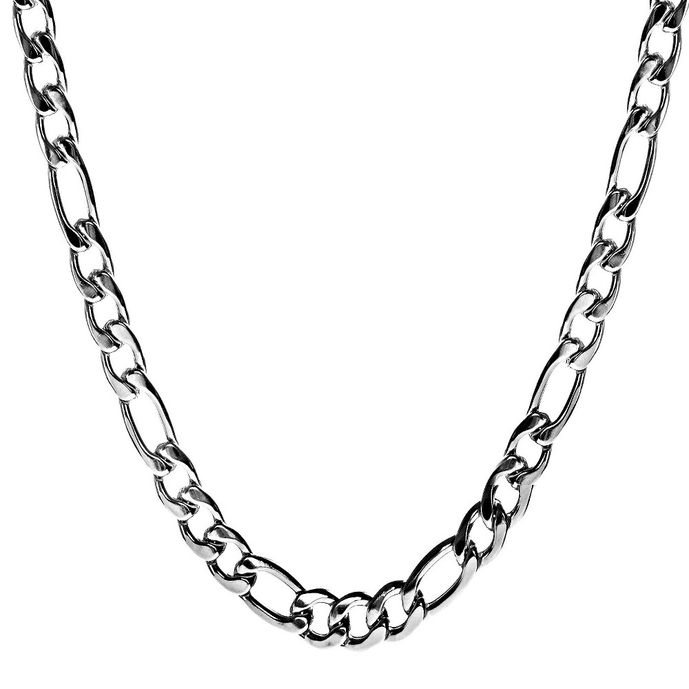 Image of Crucible Men's Stainless Steel Crucible Men's Figaro Chain Necklace, Size: Small, Silver/Silver