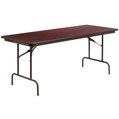 Flash Furniture 6-Foot High Pressure Mahogany Laminate Folding Banquet Table
