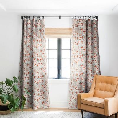 Dash And Ash Peppermint Mocha Single Panel Blackout Window Curtain - Society6