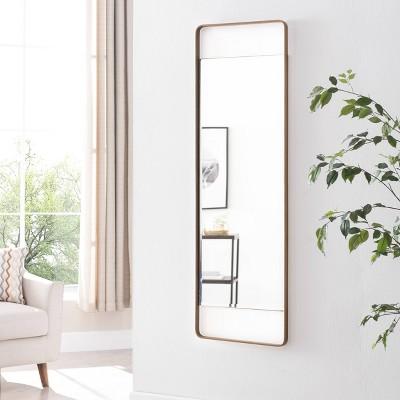 "17"" x 40"" Eshire Decorative Mirror Gold - Aiden Lane"