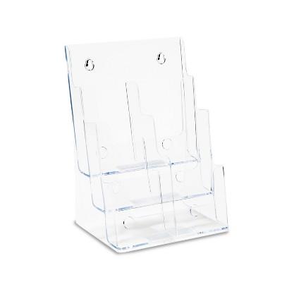 Deflecto Multi Compartment DocuHolder Six Compartments 9 5/8w x 6 1/4d x 12 5/8h Clear 77401