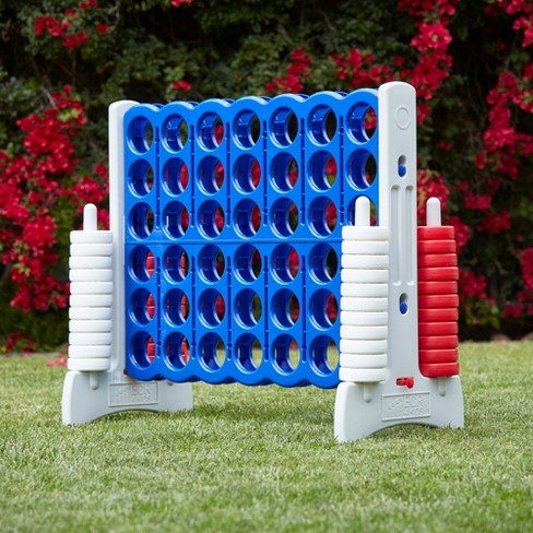 ECR4Kids Jumbo Four-To-Score Giant Game-Indoor/Outdoor 4-In-A-Row Connect - Red, White, and Blue - image 1 of 4