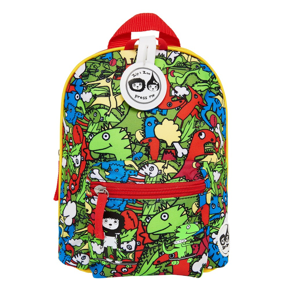"""Image of """"Zip & Zoe Mini 10"""""""" Kids' Backpack & Safety Harness - Dino Multi, Kids Unisex, Size: Small, MultiColored"""""""