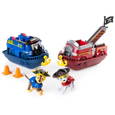Paw Patrol Pirate Pups - Pirate Vehicles with Chase and Marshall Figures - 2pk - image 1 of 9