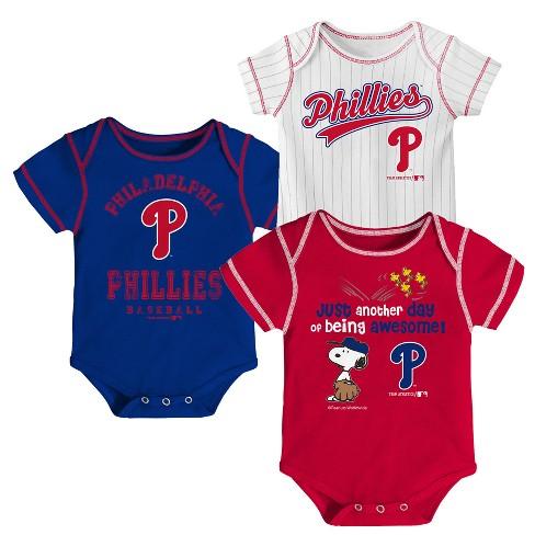 56c6a18ae Philadelphia Phillies Baby Boys  3pk Short Sleeve Bodysuit - 12 M   Target