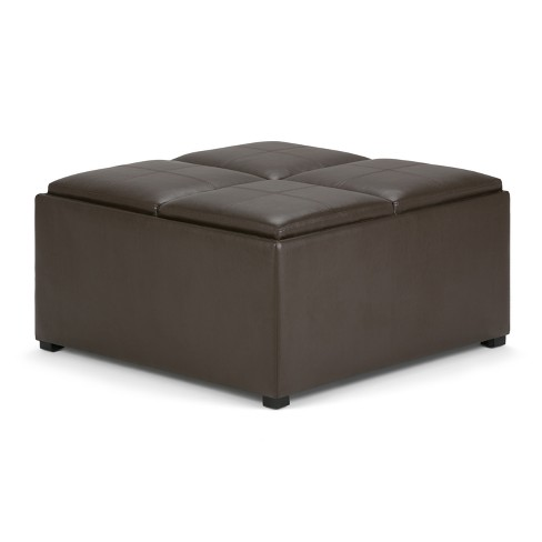 Franklin Square Coffee Table Storage Ottoman - WyndenHall - image 1 of 4