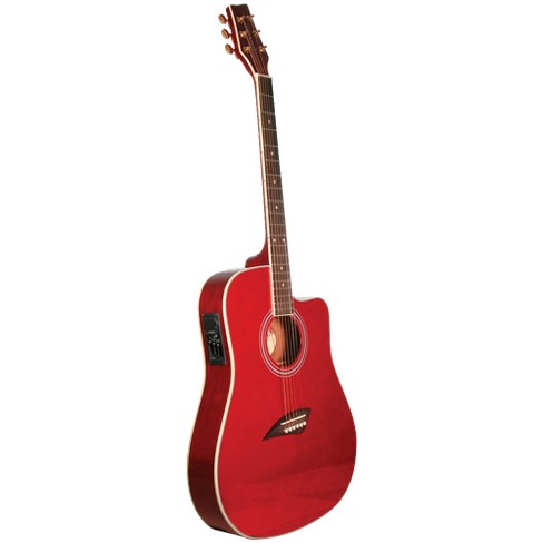 Kona K2TRD Thin Body Acoustic/Electric Guitar - Red - image 1 of 3