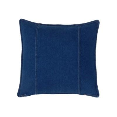 Denim Square Pillow - Blue