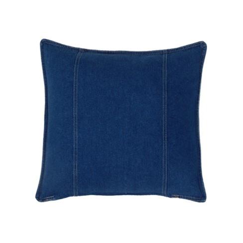 Denim Square Pillow - Blue - image 1 of 1