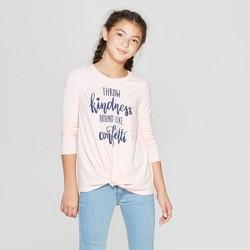 c53ce1b2c Girls' Twist Front Long Sleeve T-Shirt - art class™ Light Brown XS