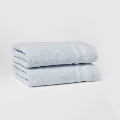 2pk Performance Bath Towel Set Light Blue - Threshold™