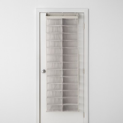 Over The Door 26 Shelf Mesh Shoe Organizer Light Gray   Made By Design™