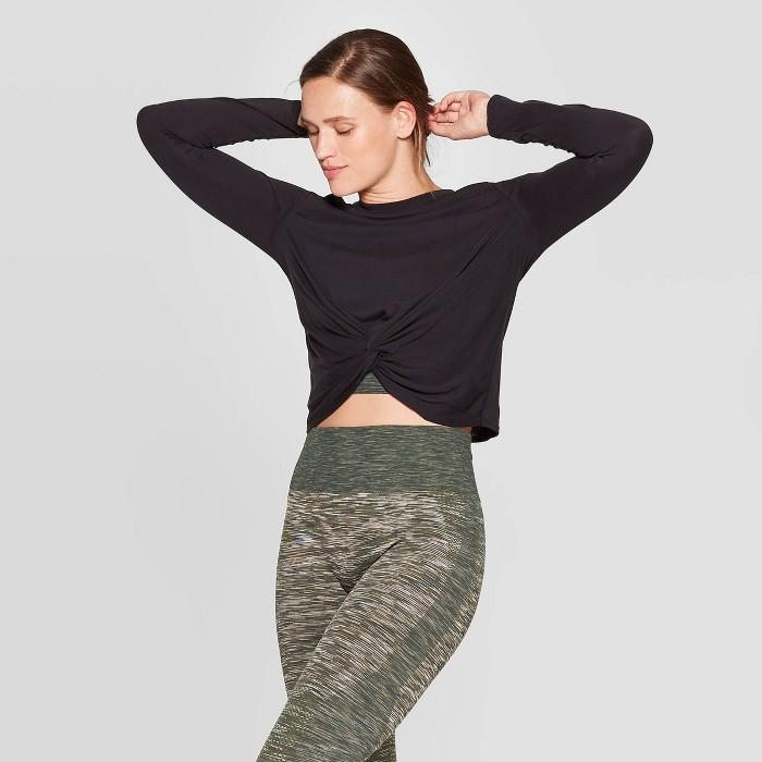 Women's Twist Front Long Sleeve T-Shirt - JoyLab™ - image 1 of 2