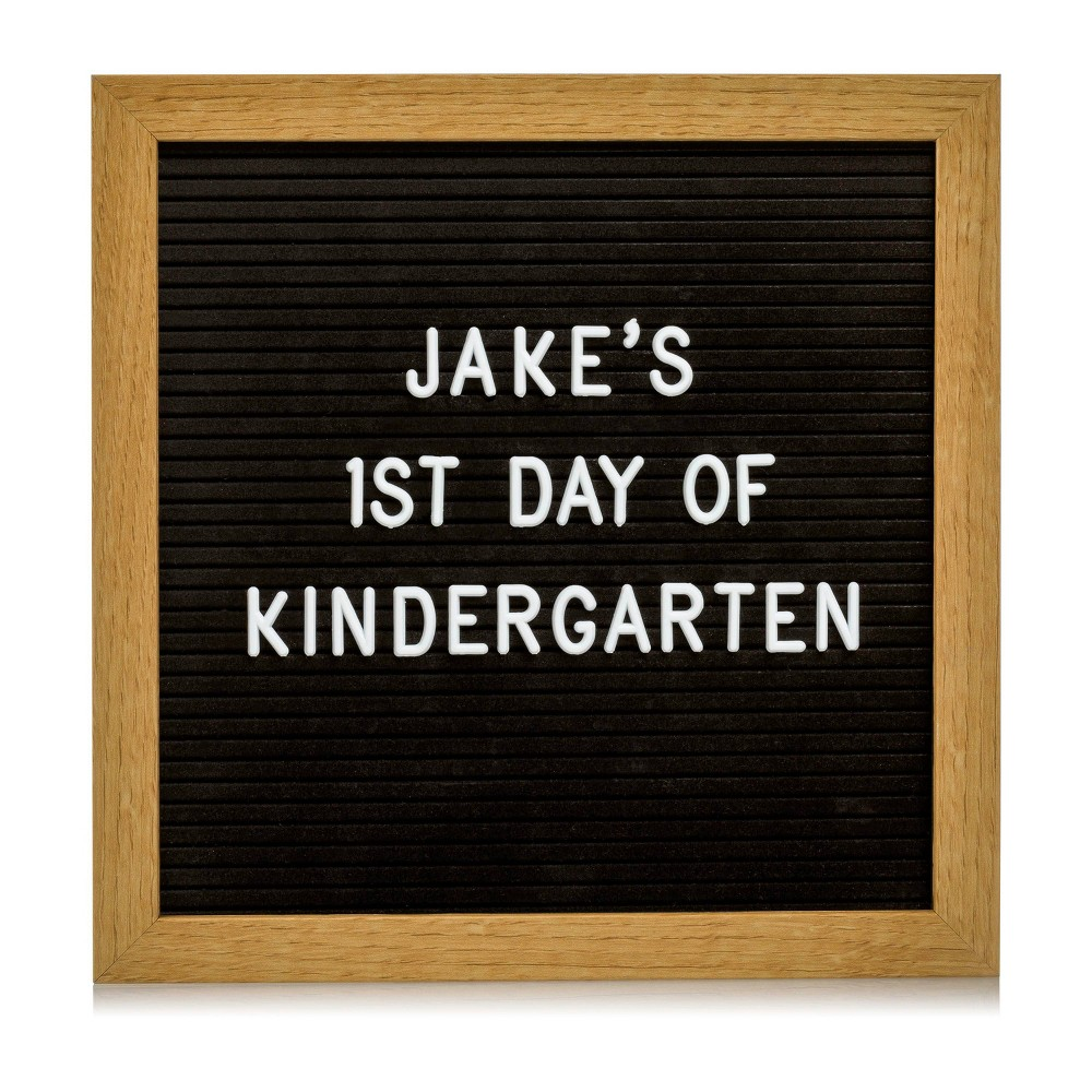 "Image of ""Pearhead 10"""" x 10"""" Back to School Letterboard Set, Black"""