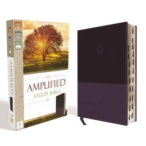 Amplified Study Bible, Imitation Leather, Purple, Indexed - by  Zondervan (Leather_bound) - image 1 of 1