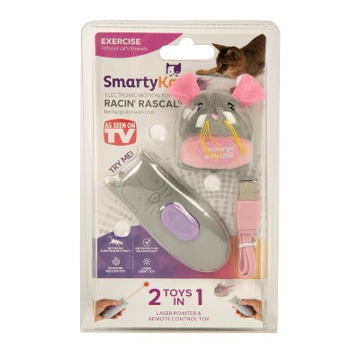 SmartyKat Racin Rascal Mouse and Remote Control with Laser Cat Toy