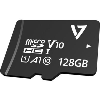 V7 VPMD128GU3 128 GB Class 10/UHS-III (U3) microSDXC - 95 MB/s Read - 30 MB/s Write - 5 Year Warranty