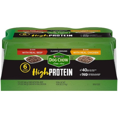Dog Chow High Protein Classic Ground Variety Pack Wet Dog Food