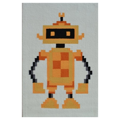 Robot Area Rug (3'x5') - The Rug Market - image 1 of 2