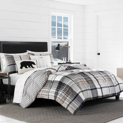 Black Normandy Plaid Comforter Set - Eddie Bauer