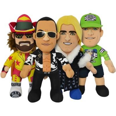 "Bleacher Creatures WWE Legends 10"" Plush Bundle: John Cena The Rock Macho Man & Rick Flair"