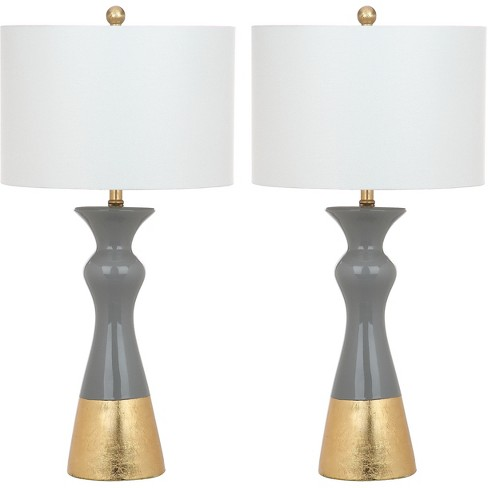 Table Lamp Gray (Includes Energy Efficient Light Bulb) - Safavieh - image 1 of 4