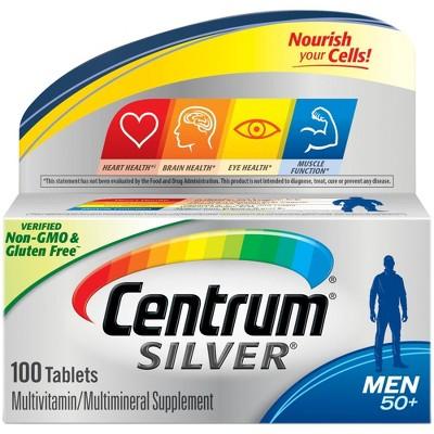 Centrum Silver Men 50+ Multivitamin Dietary Supplement Tablets