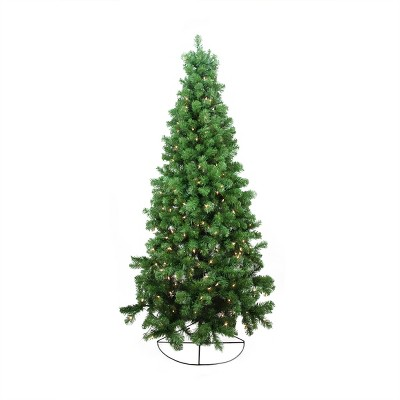 Northlight 6' Prelit Artificial Christmas Tree Wall Pine - Clear Lights