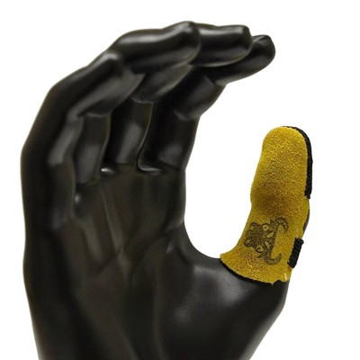 G & F 8128 Cowhide Leather Finger Guard, Finger Protection, 1pc Brown