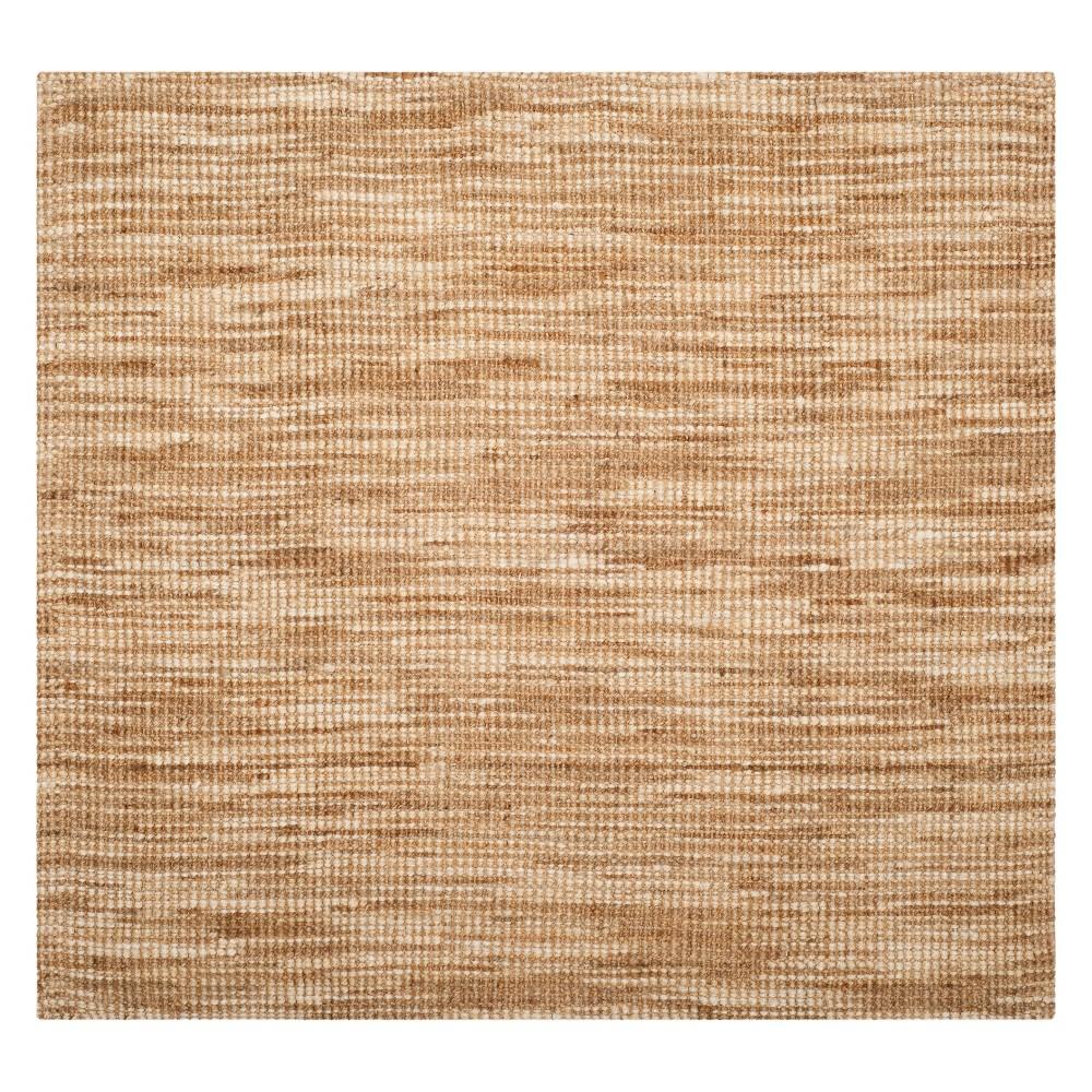 6'X6' Solid Woven Square Area Rug Natural/Cream - Safavieh, White