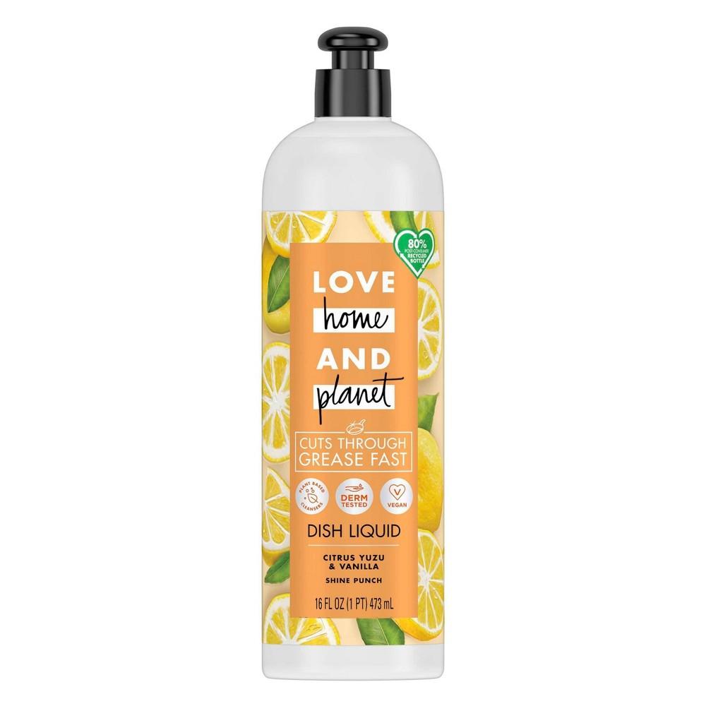 Love Home & Planet Dish Liquid - Citrus Yuzu & Vanilla - 16 fl oz
