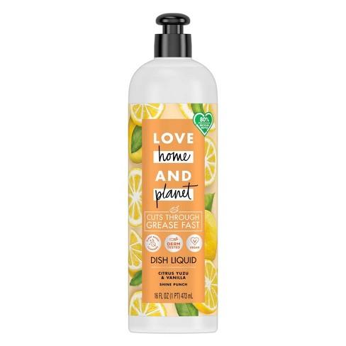 Love Home & Planet Dish Liquid - Citrus Yuzu & Vanilla - 16 fl oz - image 1 of 4