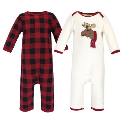 Touched by Nature Baby Unisex Holiday Pajamas, Baby Moose