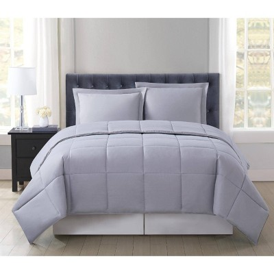 Truly Soft Everyday Full/Queen Reversible Comforter Set Gray