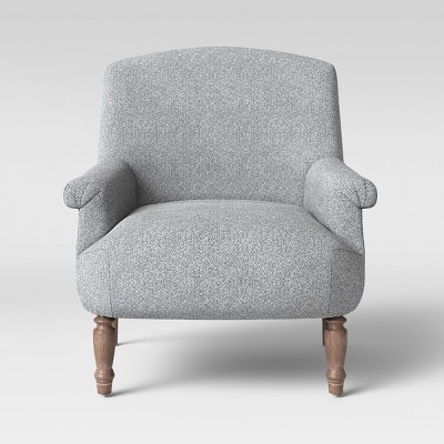 Brewster Rolled Arm Chair Gray/Black - Threshold™