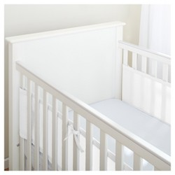 BreathableBaby Mesh Crib Liner for Solid End Cribs - White