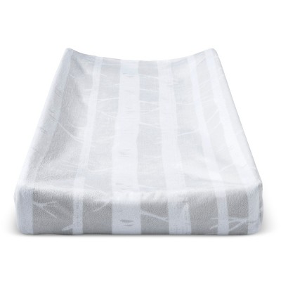 Plush Changing Pad Cover Trees - Cloud Island™ - Gray