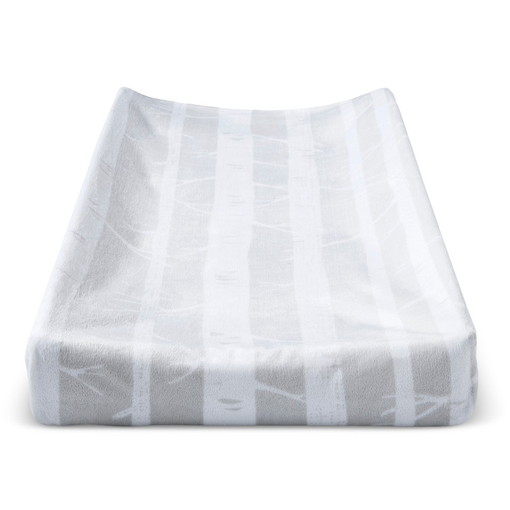 Plush Changing Pad Cover Trees Cloud Island 8482 Gray