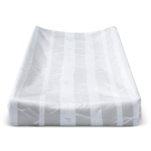 Plush Changing Pad Cover Trees - Cloud Island™ - Gray - image 1 of 1