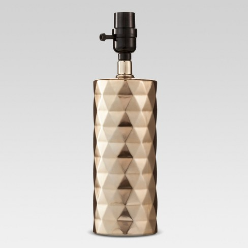 Metallic Faceted Ceramic Small Lamp Base Gold - Project 62™ - image 1 of 3
