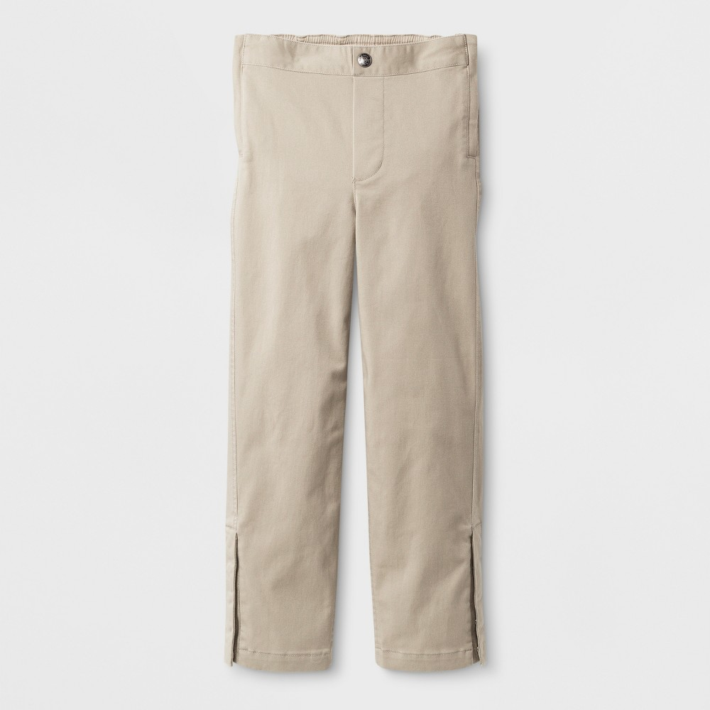 Image of Boys' Adaptive Uniform Chino Pants - Cat & Jack Khaki 7, Boy's, Beige