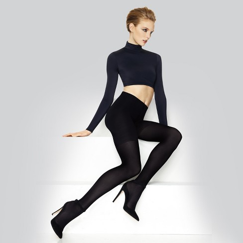 2e3fe0d5dd0 Hanes Premium Women s Perfect Blackout Tights Black - Q01758   Target