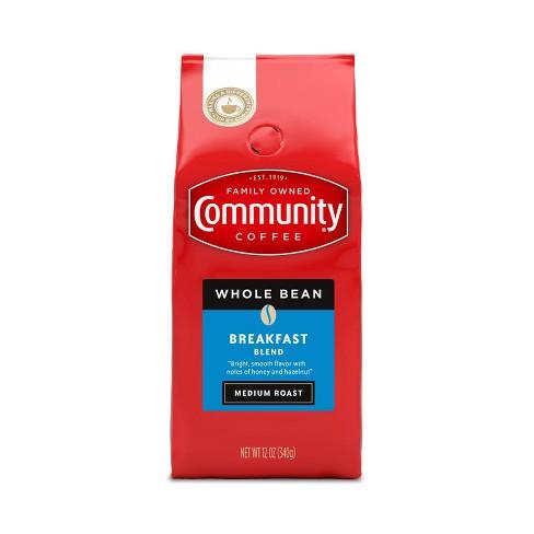 Community Coffee Breakfast Blend Medium Roast Whole Bean Coffee - 12oz - image 1 of 4