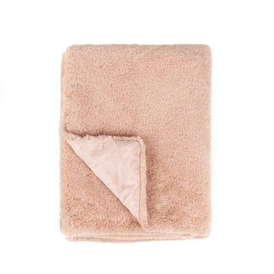 Tadpoles Super Soft Double Layer Faux Fur Plush Baby Blanket - Blush