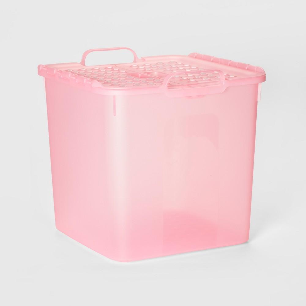 7gal Large Toy Storage Bin Pink - Pillowfort