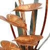 """Sunnydaze 34""""H Electric Copper Flower Petals with 5-Tier Leaves Outdoor Water Fountain - image 4 of 4"""