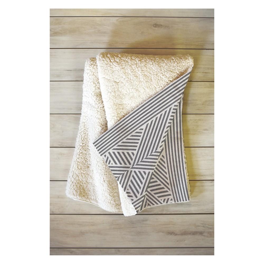 Image of 50 x 60 Holli Zollinger Amai Throw Blanket Gray - Deny Designs