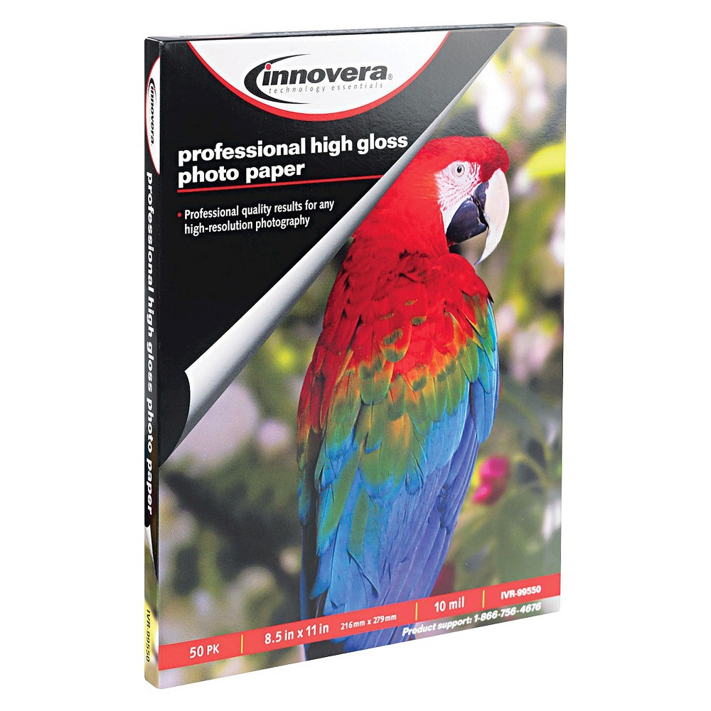 "Image of ""Innovera 8-1/2"""" X 11"""" High-Gloss Photo Paper (50 Sheets/Pack)"""