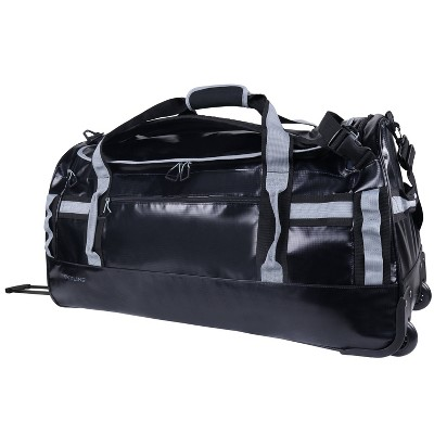 "Skyline 30"" Rolling Duffel Bag - Coated Premium Black/Gray"