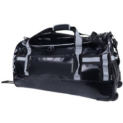 "Skyline 30"" Rolling Duffel Bag - Coated Premium Black/Gray"